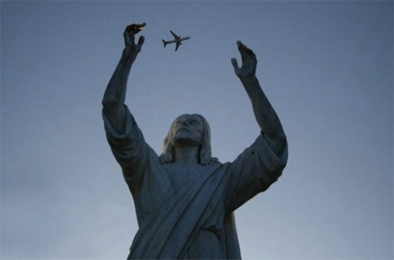 Jesus catches jet