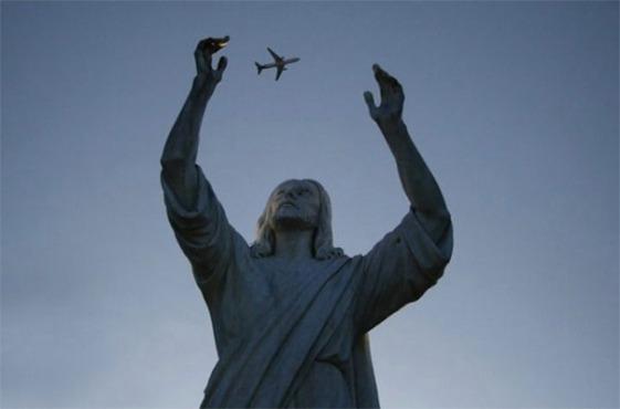 Jesus catches jet
