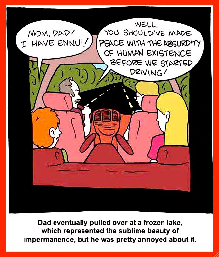 Existentialist family vacation