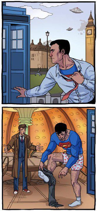 Superman vs. Dr. Who