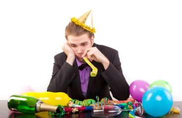 miese party,schlechte laune einsamkeit