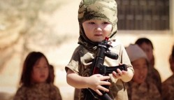 ISIL release shocking new video of child soldiers from Kazakhstan being trained with AK47s