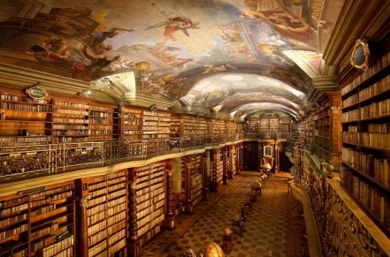 """St. Peter: """"May I see your library card, please?"""""""