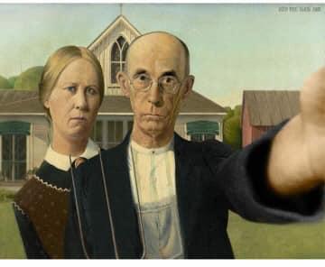 American Gothic selfie