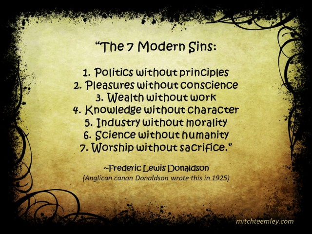 7 Modern SIns