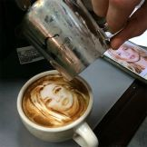 Latte painting