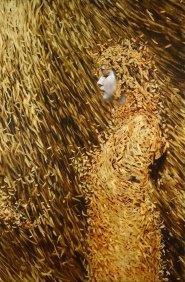 Leaf painting by Brad Kunkle