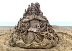 Sand sculpture (Artist: Hosaka)