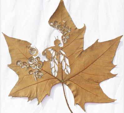 Leaf sculpture (Lorenzo Duran Silva)