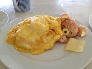 Rice bear with egg blanket