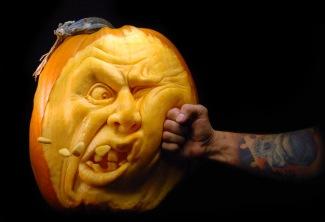 Pumpkin art (Artist: Villafane)