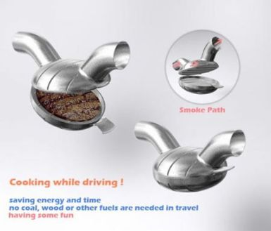 Car Cigarette Lighter Burger Cooker. Who knew we needed this?