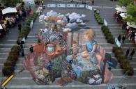 Chalk art, Sydney, Australia, 2014