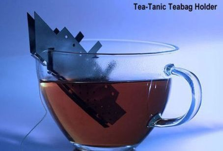 Tea-Tanic Teabag Holder. Makes tragedy fun again!