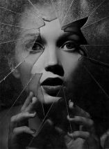 Girl Broken Glass (photographer unknown)