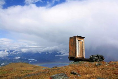 Well, the view's nice (Siberian outhouse)