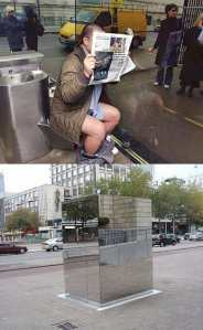 VERY public toilet.