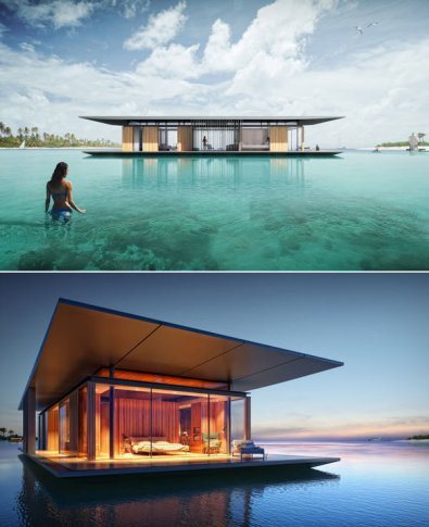 Floating House designed by Dymitr Malcew