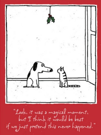 friday-funnies-cat-dog-chrstmas-mistletoe-cartoon