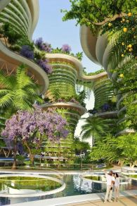 Hanging garden apartments