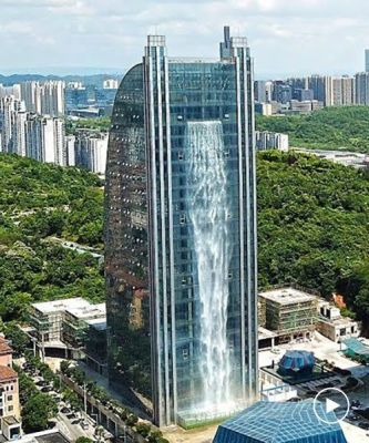 Waterfall tower, Guiyang, China