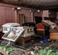 Set free? Abandoned funeral home