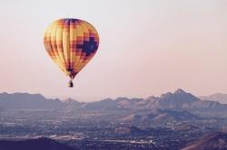 Ballooning in Arizona, USA
