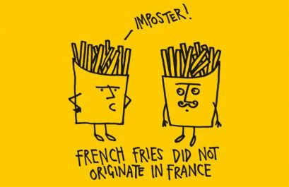 They were, in fact, invented Chile, long before the potato was introduced to Europe.