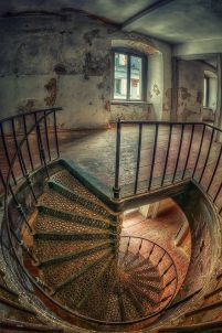 Abandoned Asylum (this staircase would effect anyone's sanity)