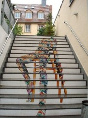 Stairs as a canvas