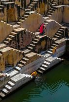 Chand Baori Well up close