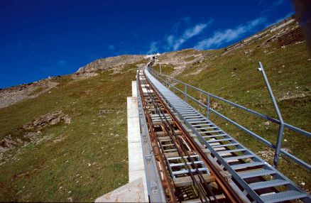 Niesenbahn Funicular stairway, Bern, Switzerland - 2.2 miles long (Guinness Book of World Records)