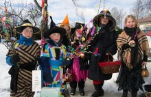 Children dressed as Easter Witches in Finland (go figure)