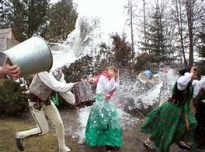 Dyngus Day (Easter Monday) Sprinkling of the Women in Hungary