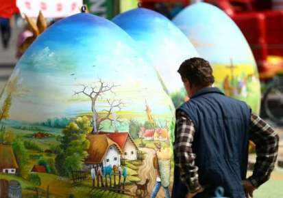 Easter eggs in Koprivnica, Croatia