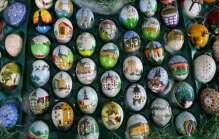 Easter eggs in Saalfield, Germany