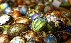 Handmade eggs at an Innsbruck, Austria, Easter Market