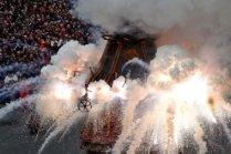 Pasqua, Italy - Explosion of the Cart