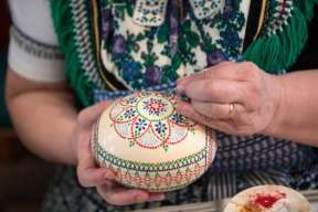 Traditiona lSorbian-style Easter eggs in Schleife, Germany3