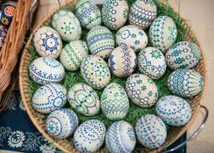 Traditiona Sorbian-style Easter eggs in Schleife, Germany2