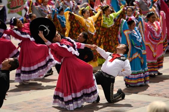 Weekend Cinco de Mayo celebrations at Civic Center Park in Denver, Colorado.