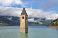 Church, Reschensee, South Tyrol, Italy (Jordan Tan)