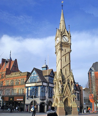 Haymarket Memorial Clock Tower, England