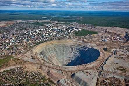 Mir Diamond Mine (abandoned), Russia
