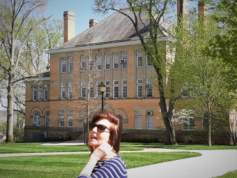 Trudy (my wife) at Denison University