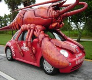"Because nothing says ""Delicous!"" like a giant Volkswagen-crushing lobster!"