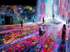 Borderless World at Tokyo's Odaiba Digital Art Museum