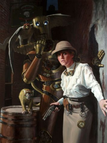 Explorer with her bot by Edward Howard
