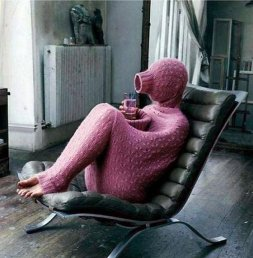 Nothing better than a cozy sweater to relax inside of.