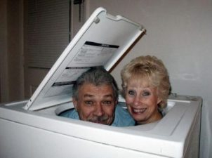 Some of the older folks were unclear on how to use modern washing machines when they were first introduced.